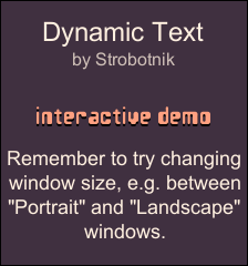 Pixel-Perfect Dynamic Text by Strobotnik (for Unity®)